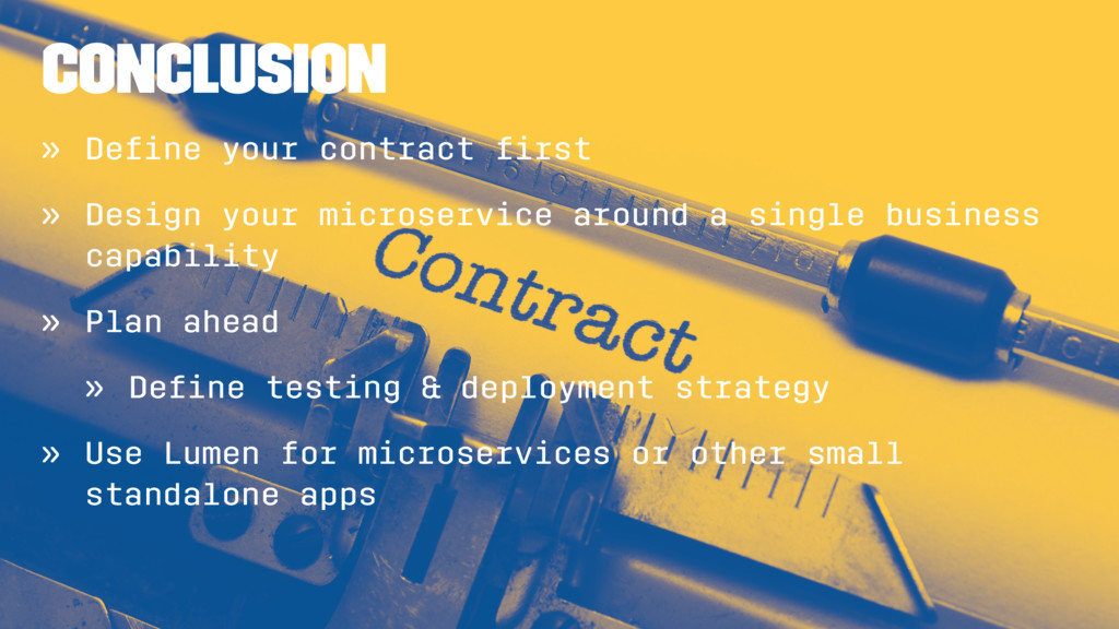 Conclusion » Define your contract first » Design ...