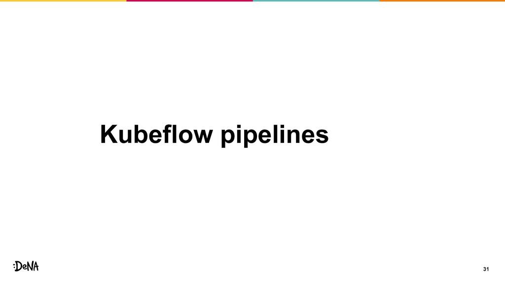 Kubeflow pipelines 31