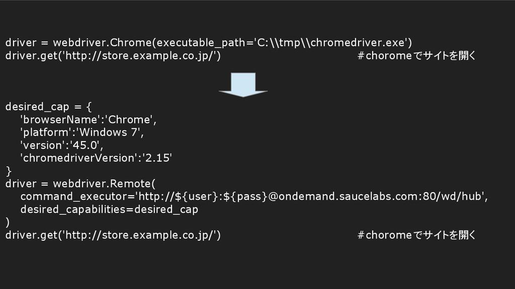 driver = webdriver.Chrome(executable_path='C:\\...