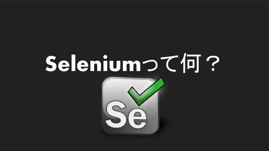 Seleniumって何?