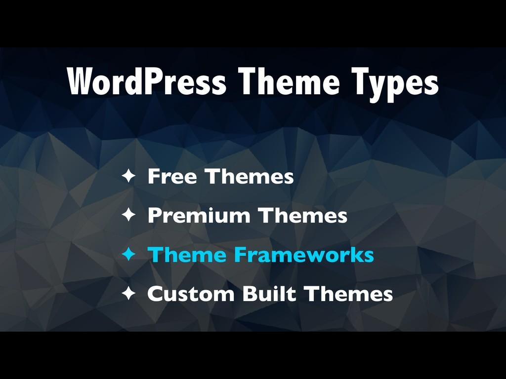 WordPress Theme Types ✦ Free Themes ✦ Premium T...