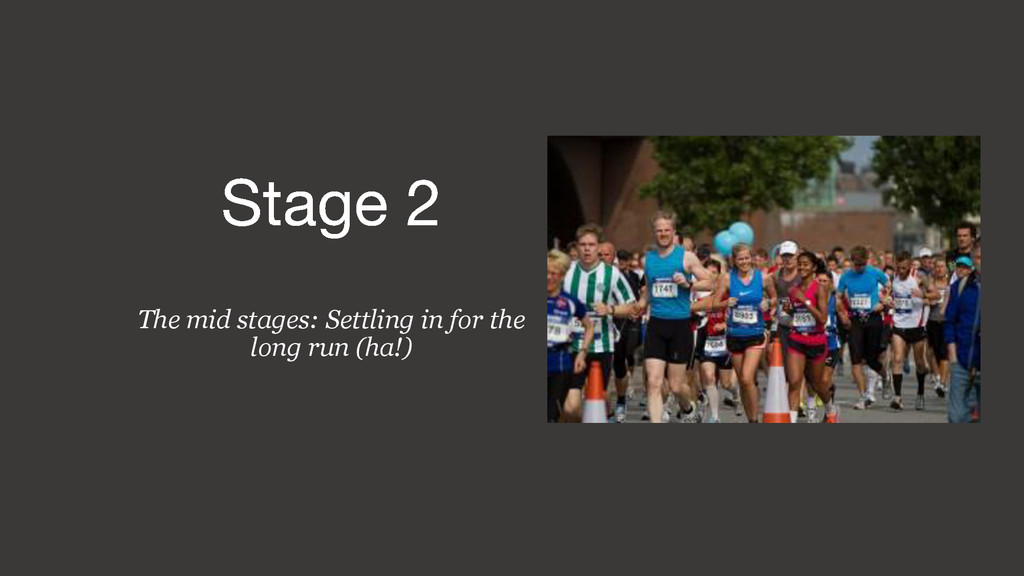 The mid stages: Settling in for the long run (h...