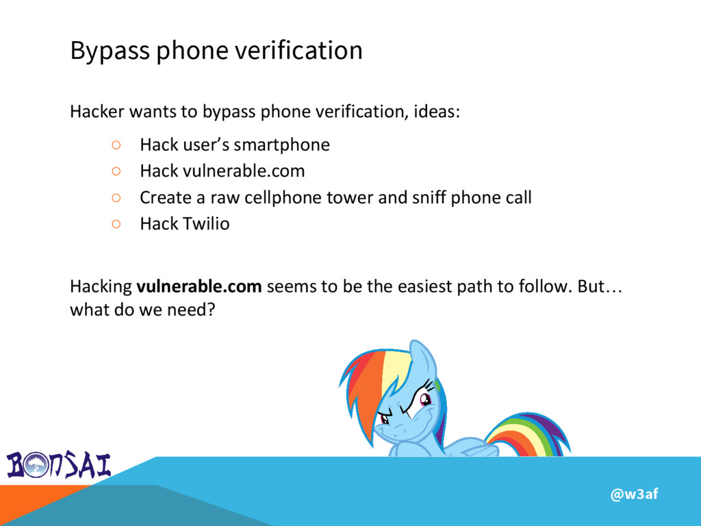 @w3af Bypass phone verification Hacker wants to...