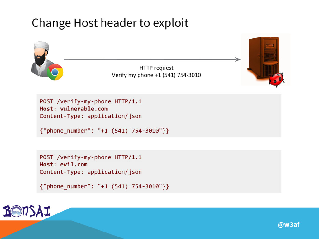@w3af Change Host header to exploit HTTP reques...