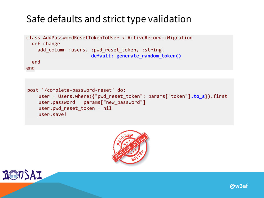 @w3af Safe defaults and strict type validation ...