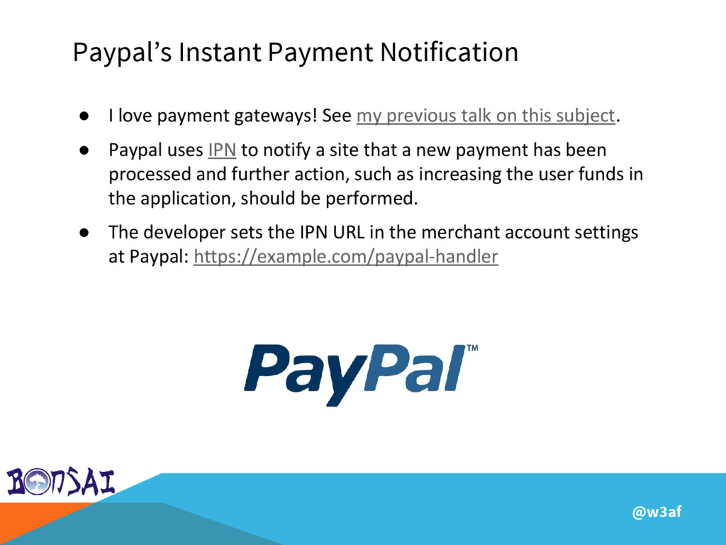 @w3af Paypal's Instant Payment Notification ● I...