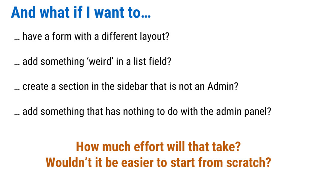 And what if I want to… … have a form with a dif...