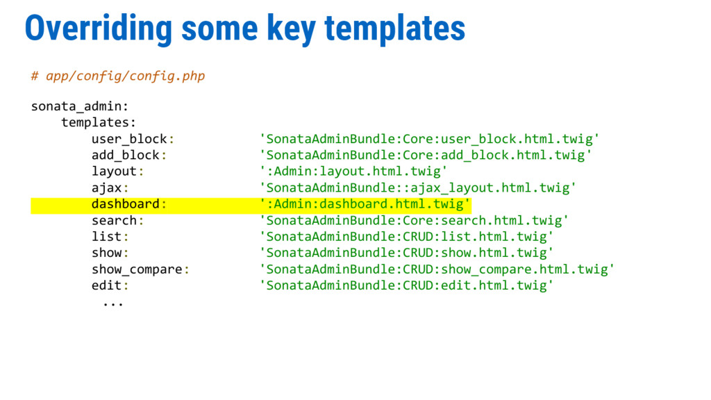Overriding some key templates # app/config/conf...