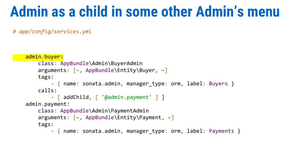 Admin as a child in some other Admin's menu # a...