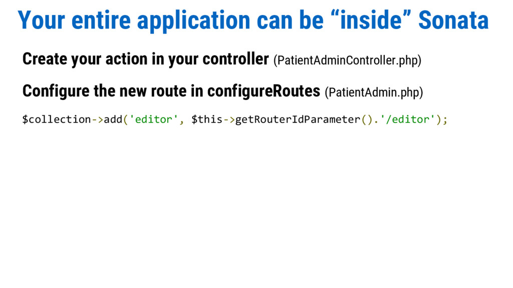 """Your entire application can be """"inside"""" Sonata ..."""