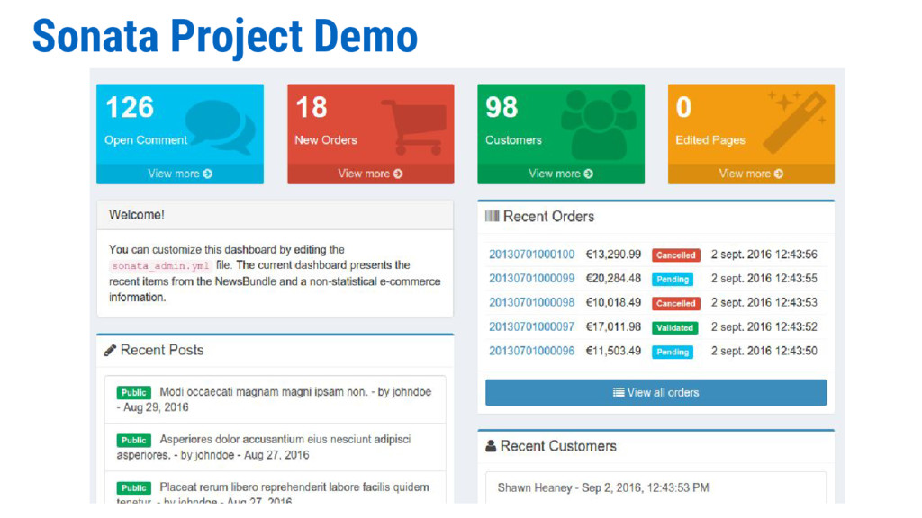 Sonata Project Demo