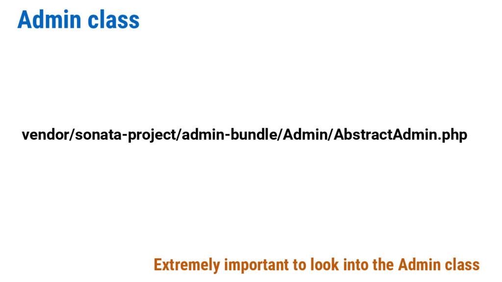 Admin class vendor/sonata-project/admin-bundle/...