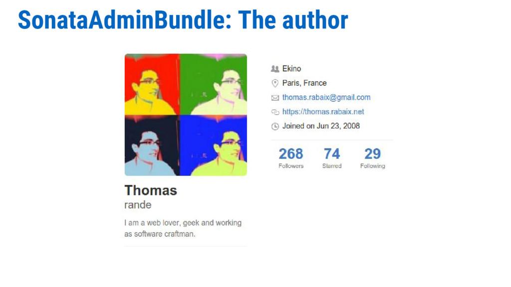 SonataAdminBundle: The author