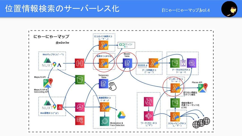位置情報検索のサーバーレス化 『にゃーにゃーマップ』vol.4