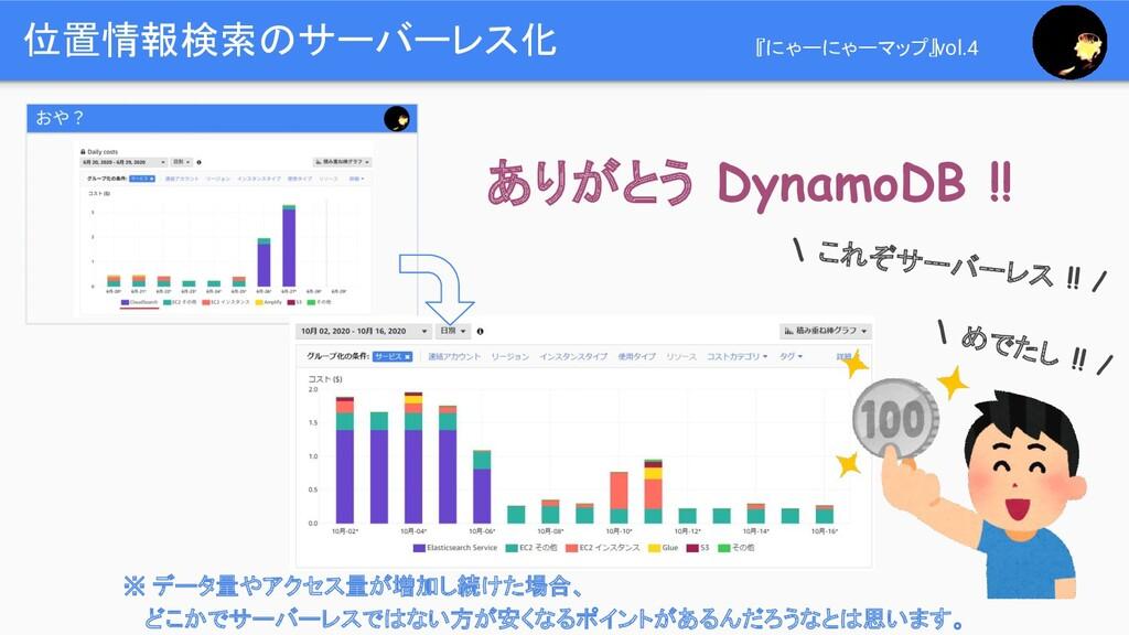 位置情報検索のサーバーレス化 『にゃーにゃーマップ』vol.4 ありがとう DynamoDB ...