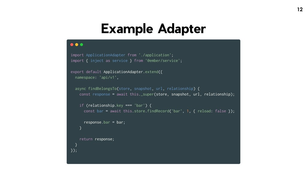 !12 Example Adapter