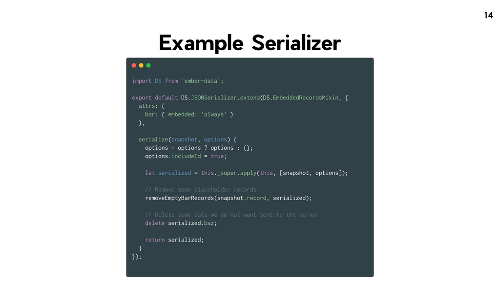 !14 Example Serializer