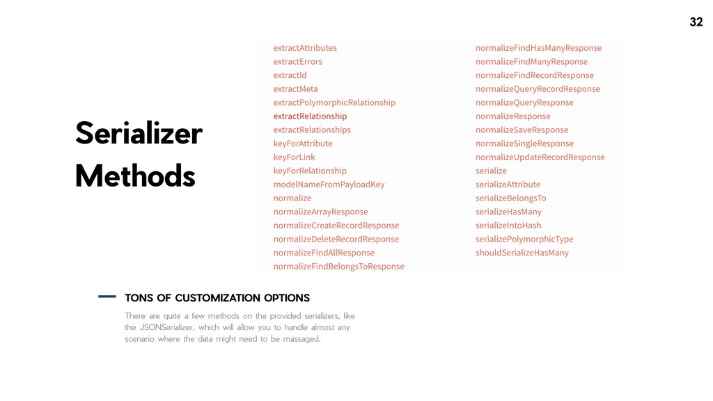 !32 Serializer Methods TONS OF CUSTOMIZATION OP...