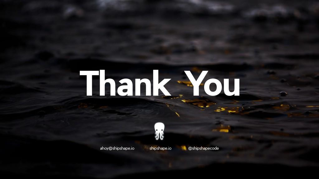 !33 Thank You ahoy@shipshape.io shipshape.io @s...
