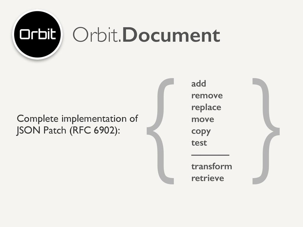 Orbit.Document Complete implementation of  JS...