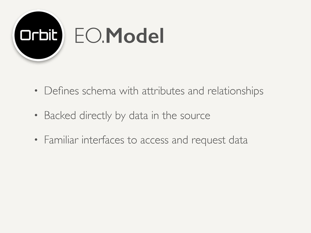 • Defines schema with attributes and relationshi...