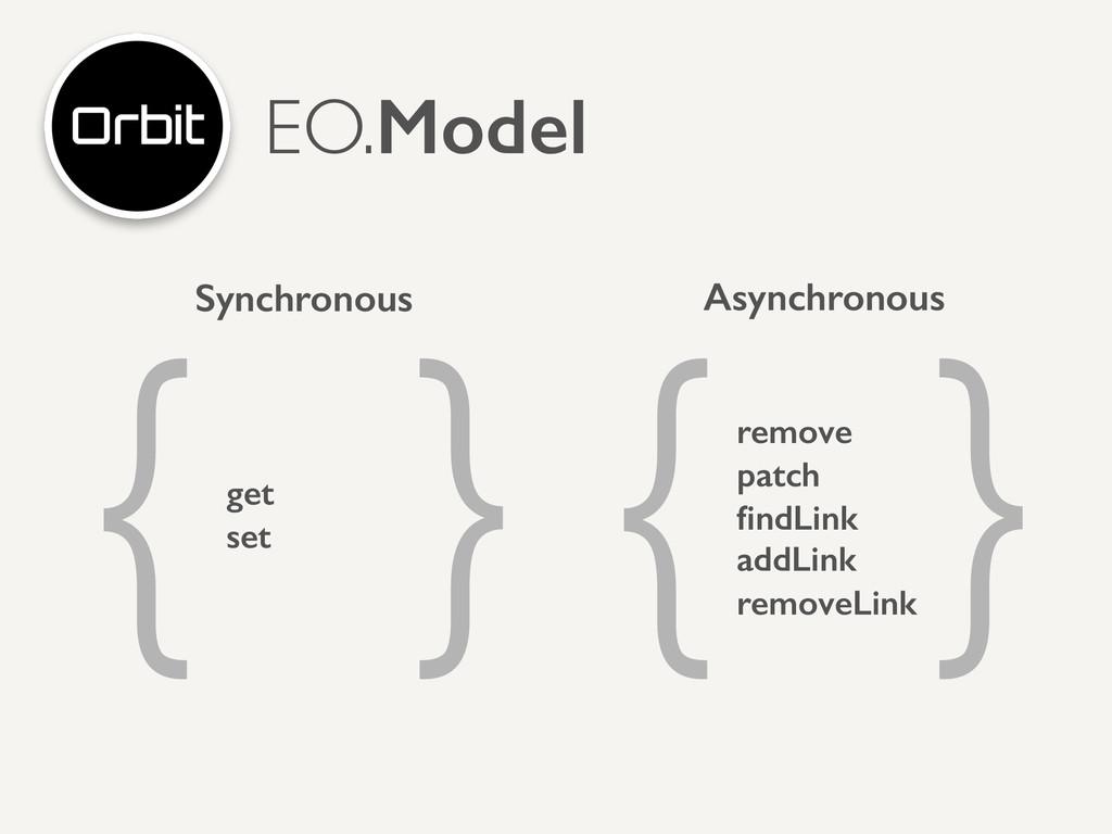 EO.Model get set ! remove patch findLink addLink...