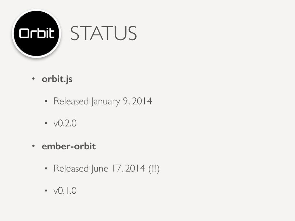 STATUS • orbit.js • Released January 9, 2014 ...