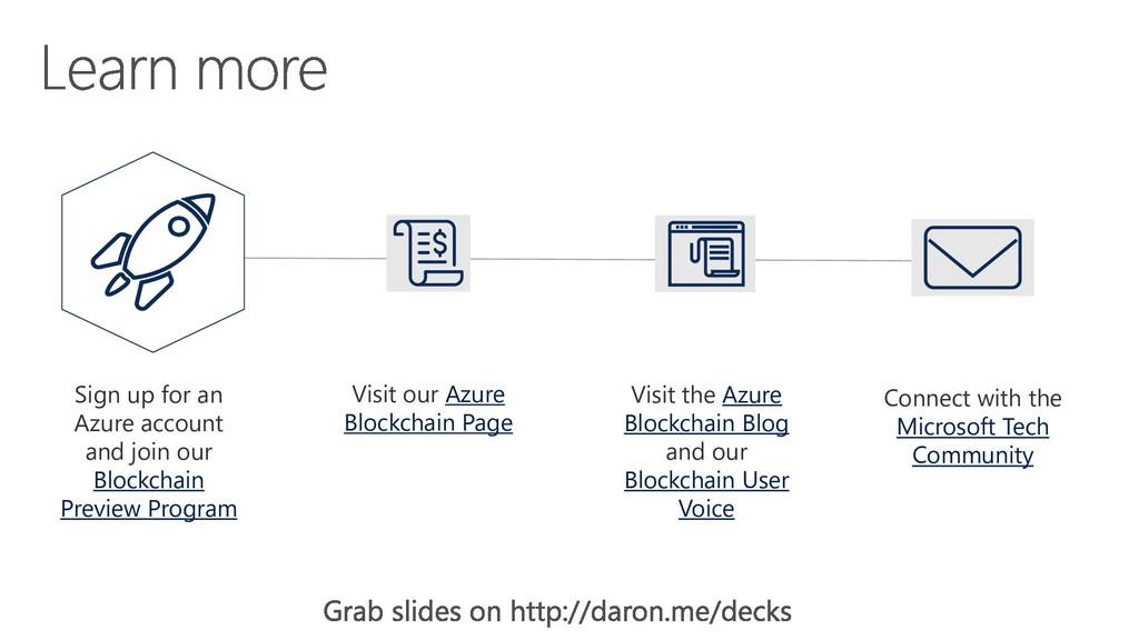 Visit our Azure Blockchain Page Visit the Azure...