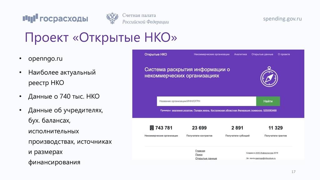 Проект «Открытые НКО» • openngo.ru • Наиболее а...