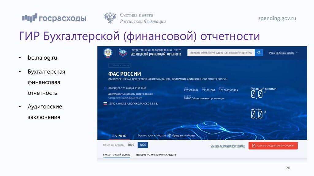 ГИР Бухгалтерской (финансовой) отчетности • bo....