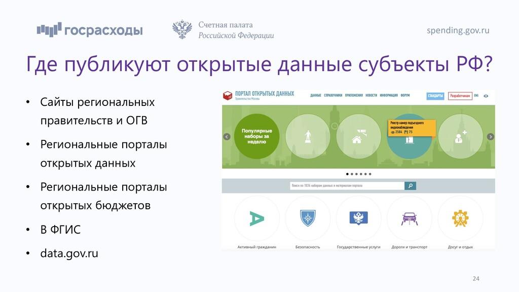 Где публикуют открытые данные субъекты РФ? • Са...