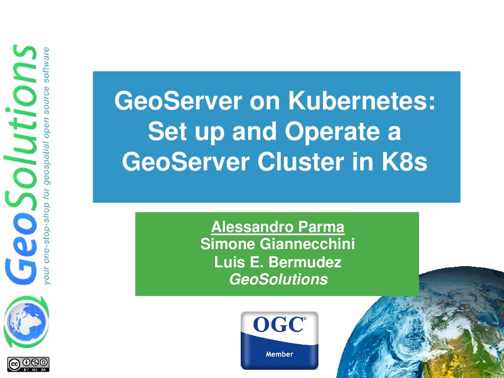 GeoServer on Kubernetes: Set up and Operate a G...