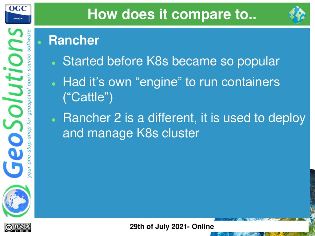 How does it compare to.. ⚫ Rancher ⚫ Started be...