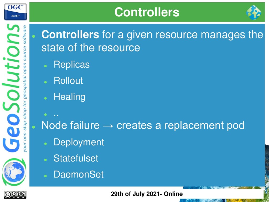 Controllers ⚫ Controllers for a given resource ...