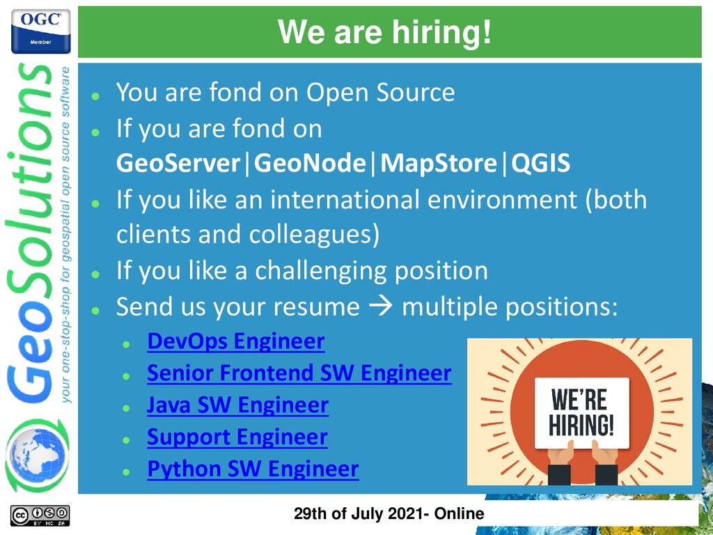 We are hiring! ⚫ You are fond on Open Source ⚫ ...