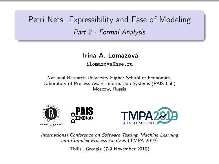 Petri Nets: Expressibility and Ease of Modeling...