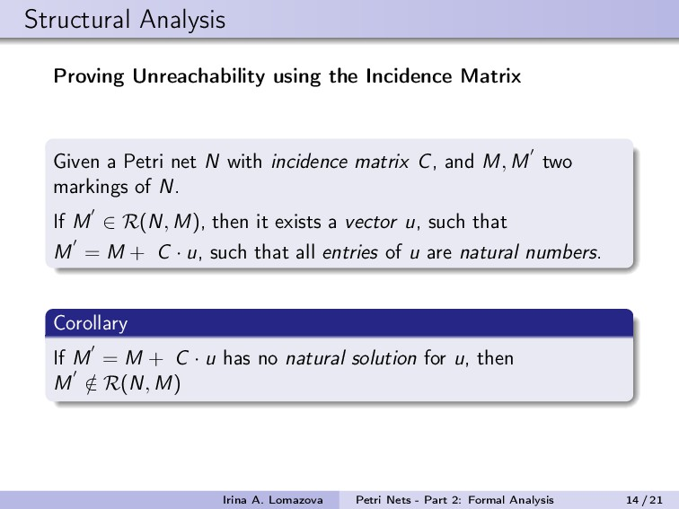 Structural Analysis Proving Unreachability usin...