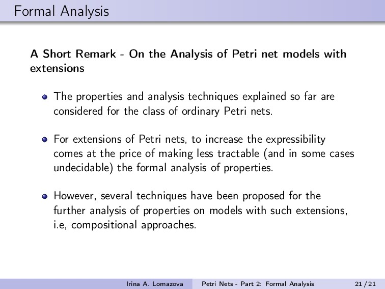 Formal Analysis A Short Remark - On the Analysi...
