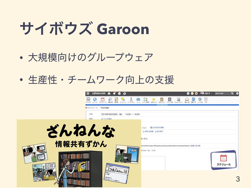 αΠϘζ Garoon • େن͚ͷάϧʔϓΣΞ • ੜੑɾνʔϜϫʔΫ্ͷࢧԉ