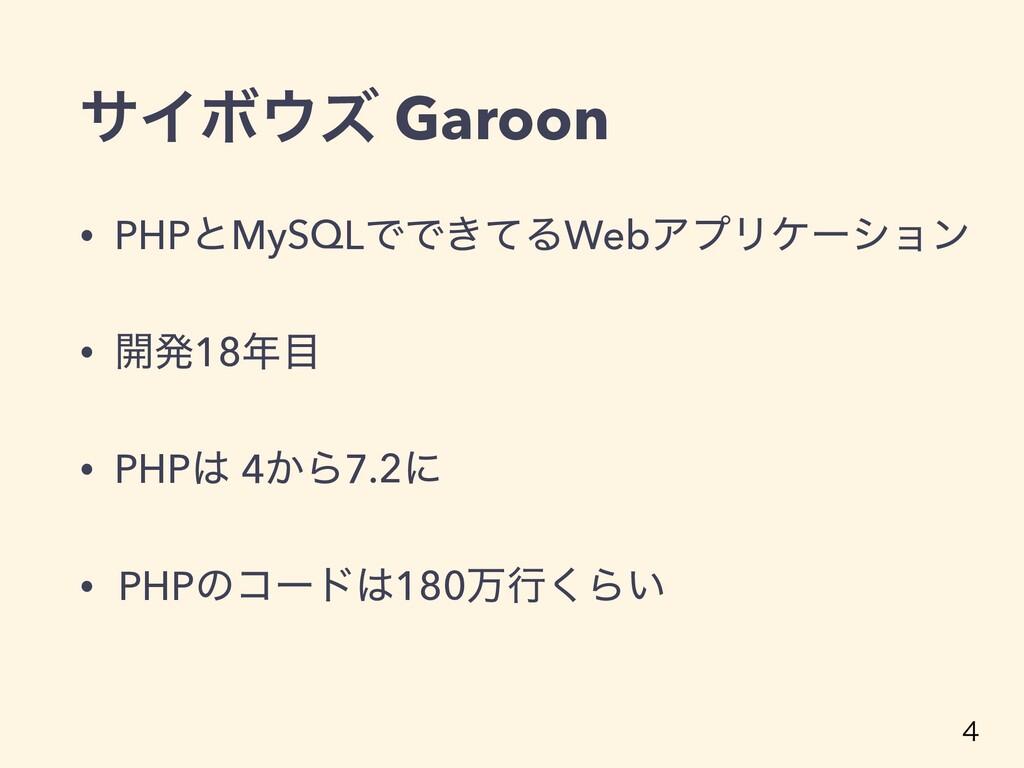 αΠϘζ Garoon • PHPͱMySQLͰͰ͖ͯΔWebΞϓϦέʔγϣϯ • ։ൃ18...