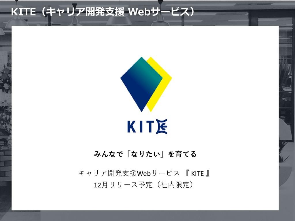 KITE(キャリア開発支援 Webサービス) みんなで「なりたい」を育てる キャリア開発支援W...