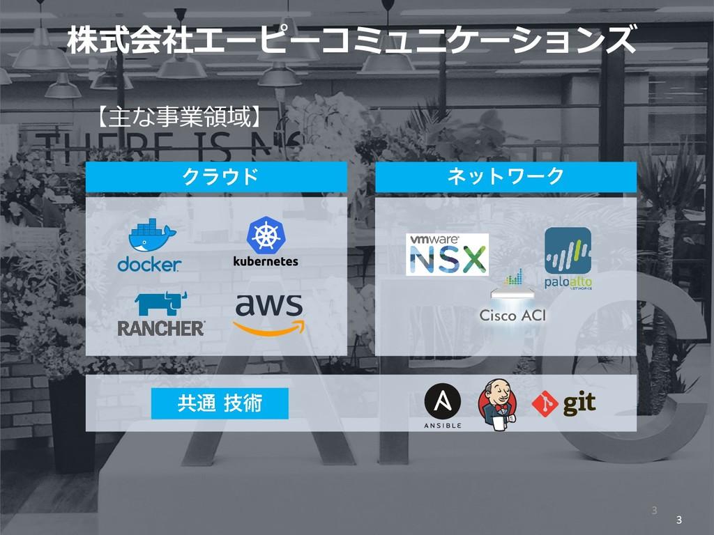3 株式会社エーピーコミュニケーションズ 3 【主な事業領域】
