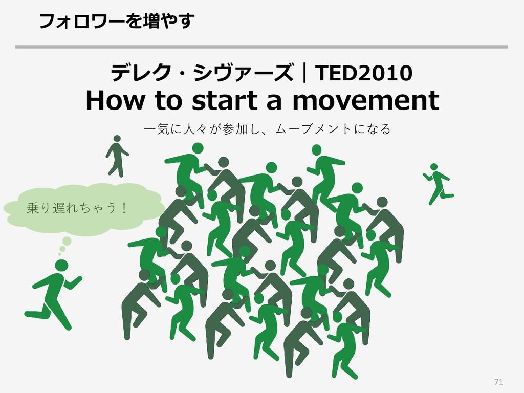 71 デレク・シヴァーズ TED2010 How to start a movement フォ...
