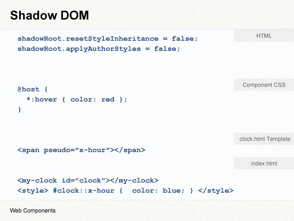 Shadow DOM shadowRoot.resetStyleInheritance = f...