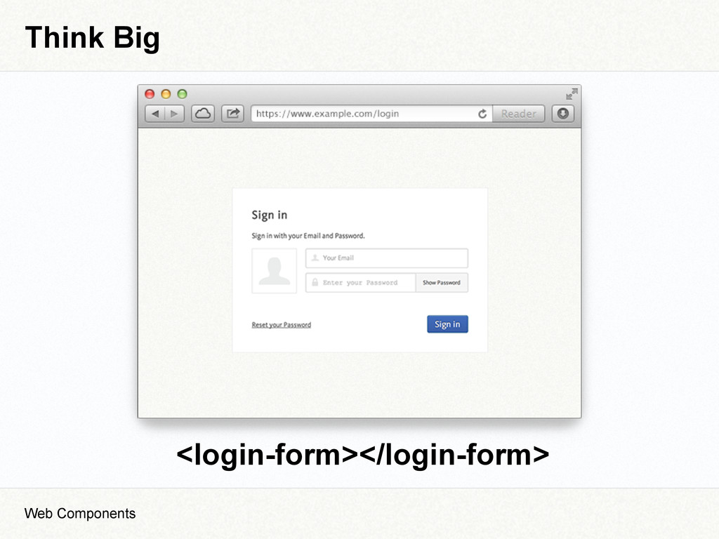 Think Big Web Components <login-form></login-fo...