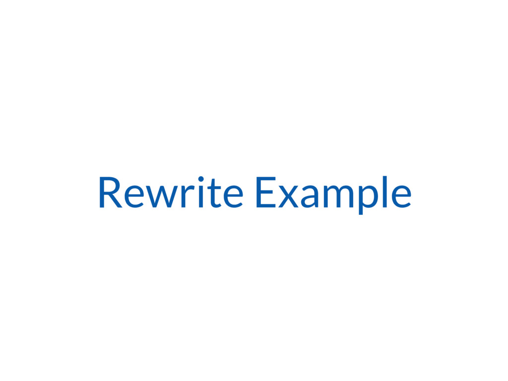 Rewrite Example