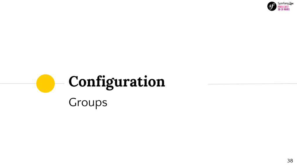 Configuration Groups 38