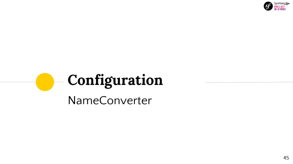 Configuration NameConverter 45