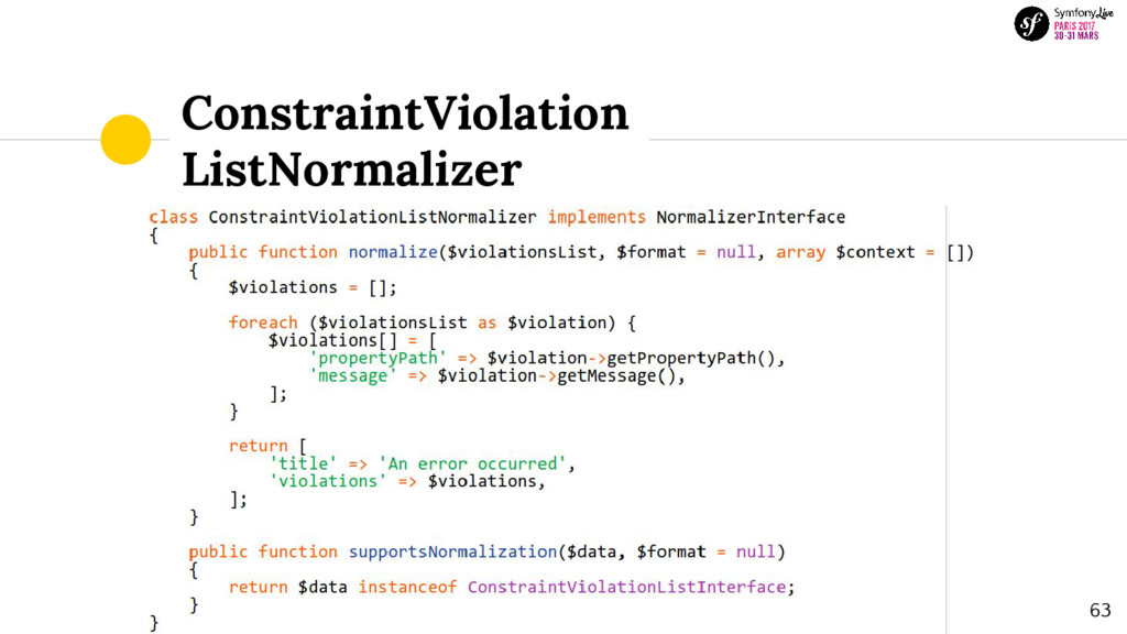 ConstraintViolation ListNormalizer 63