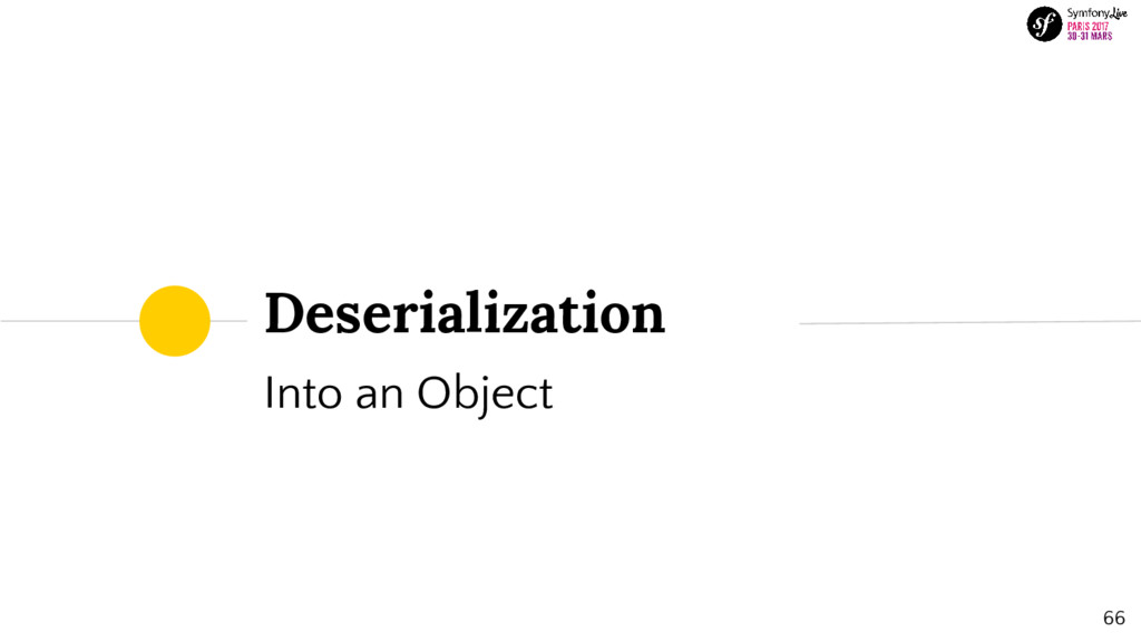Deserialization Into an Object 66